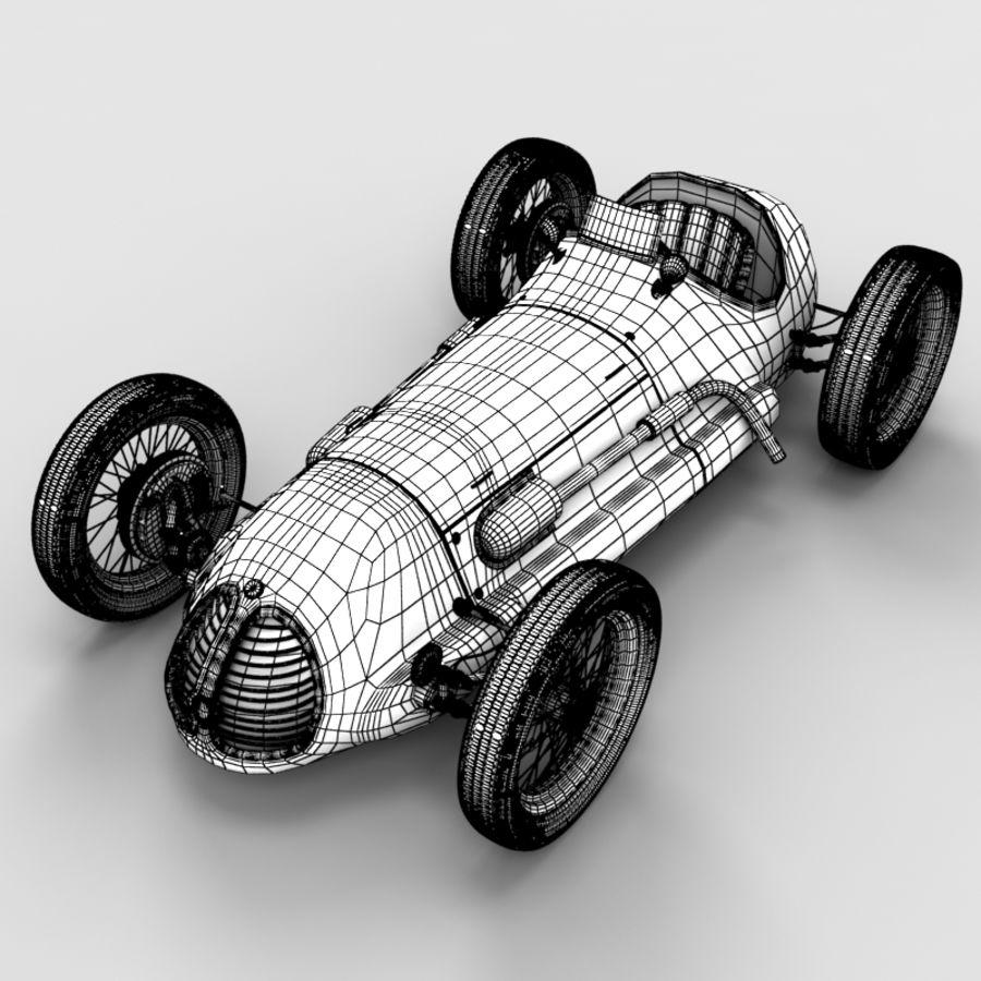 Stary samochód wyścigowy royalty-free 3d model - Preview no. 6