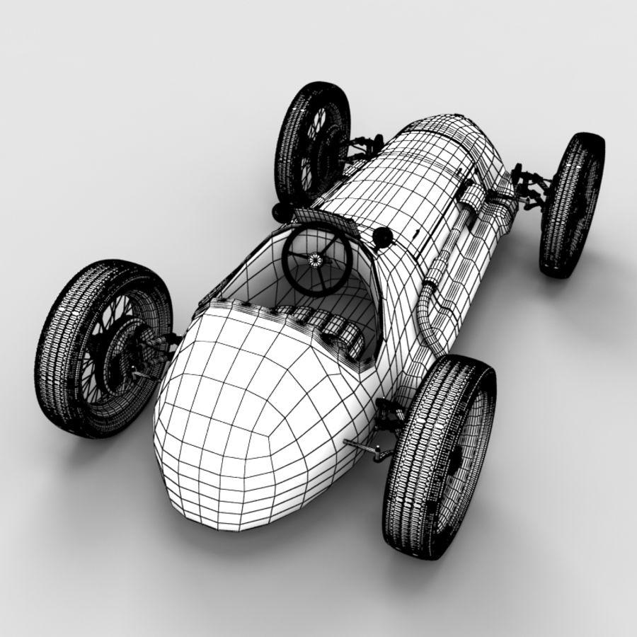Stary samochód wyścigowy royalty-free 3d model - Preview no. 7