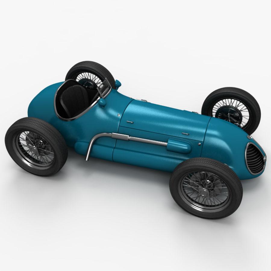 Stary samochód wyścigowy royalty-free 3d model - Preview no. 4