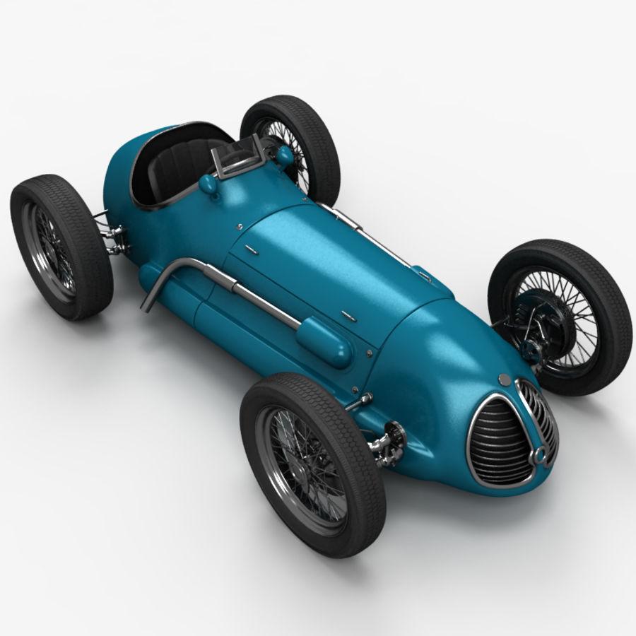Stary samochód wyścigowy royalty-free 3d model - Preview no. 3