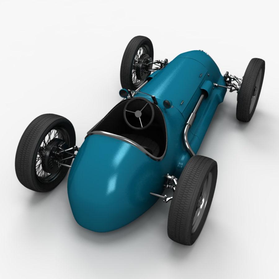 Stary samochód wyścigowy royalty-free 3d model - Preview no. 5