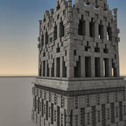 Древняя фантазия здание 002 3d model