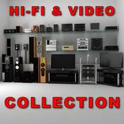 Коллекция Hi-Fi и видео 3d model