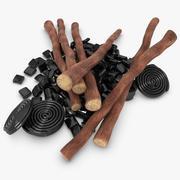 Doces e raízes de alcaçuz 3d model