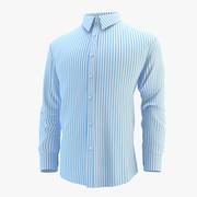 Camicia Blu 3d model