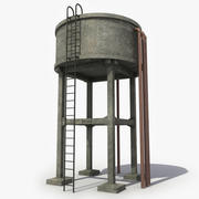 コンクリート給水塔 3d model