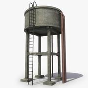 Torre de água de concreto 3d model