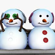 愛の雪だるま 3d model