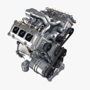 엔진 V6 3d model