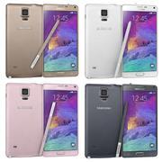 Samsung Galaxy Note 4 Alla färger 3d model
