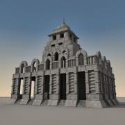 古代幻想建筑001 3d model