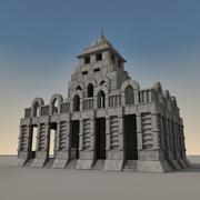 Ancient Fantasy Building 001 3d model