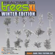 3D Trees XL в реальном времени - зимнее издание 3d model