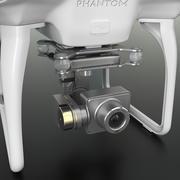 リモートコントロールなしのDJI Phantom 2 Quadrocopter 3d model