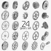 24 Gears Set 3d model