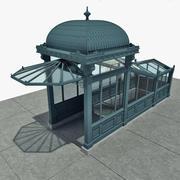 지하철 입구 3d model