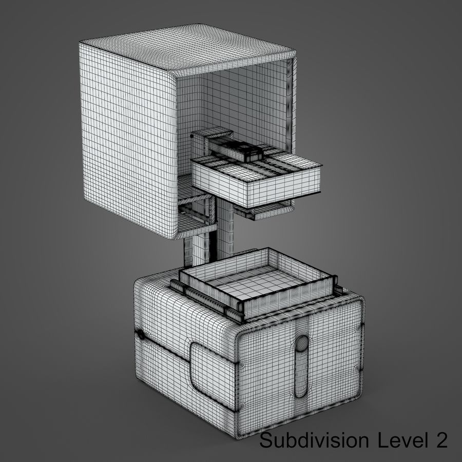 drukarka 3d royalty-free 3d model - Preview no. 15