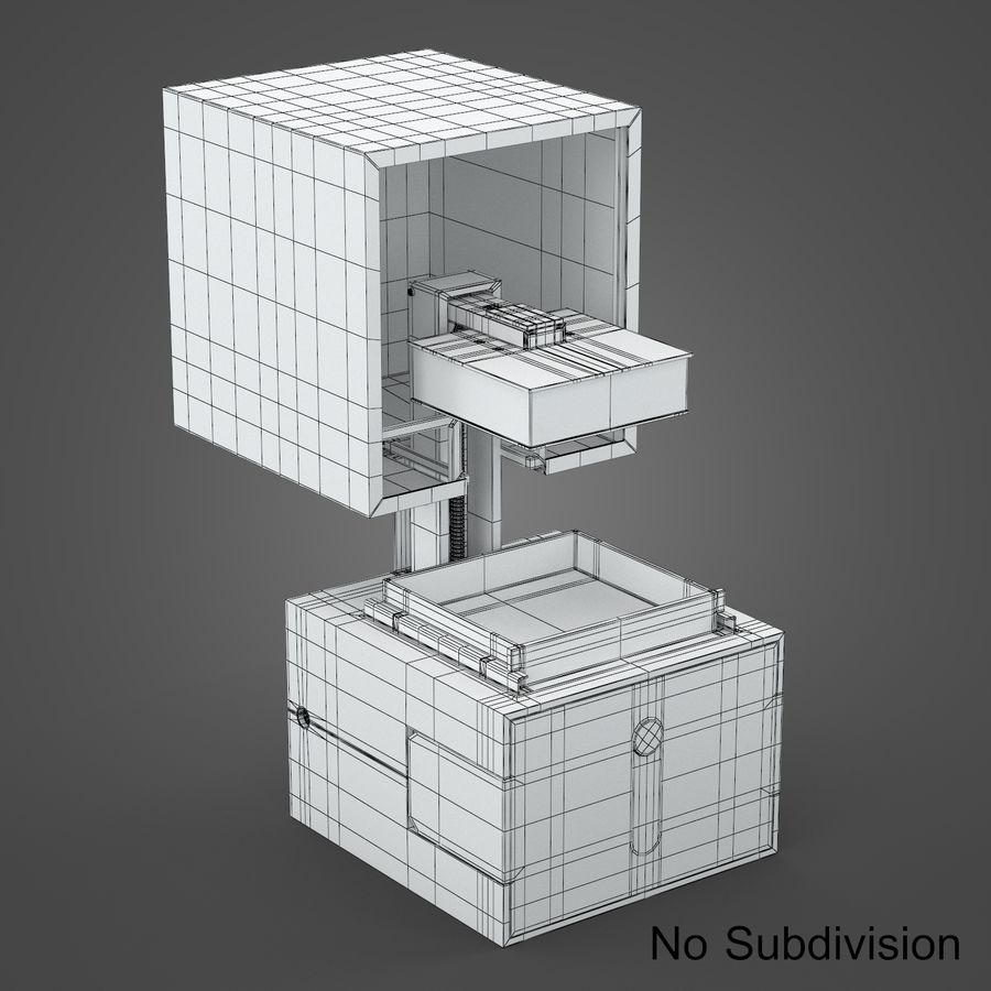 drukarka 3d royalty-free 3d model - Preview no. 12