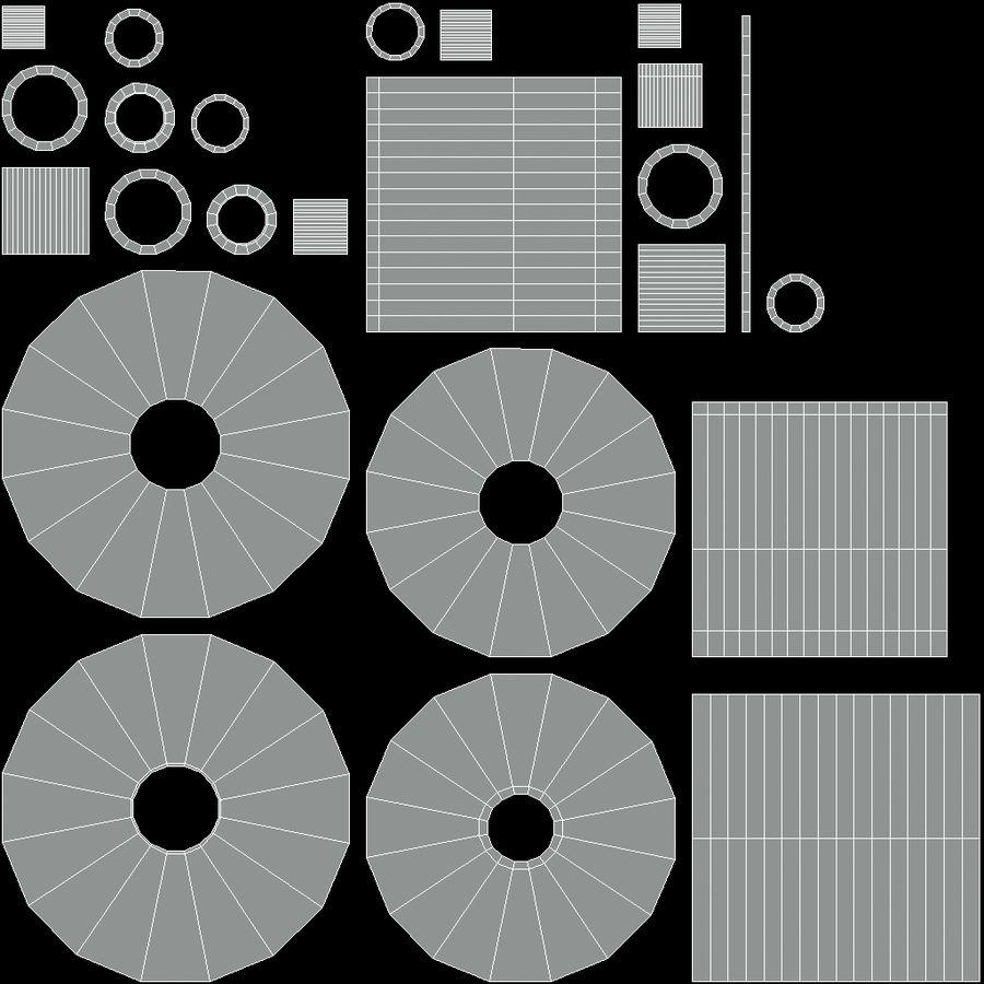 Güterwagen royalty-free 3d model - Preview no. 20