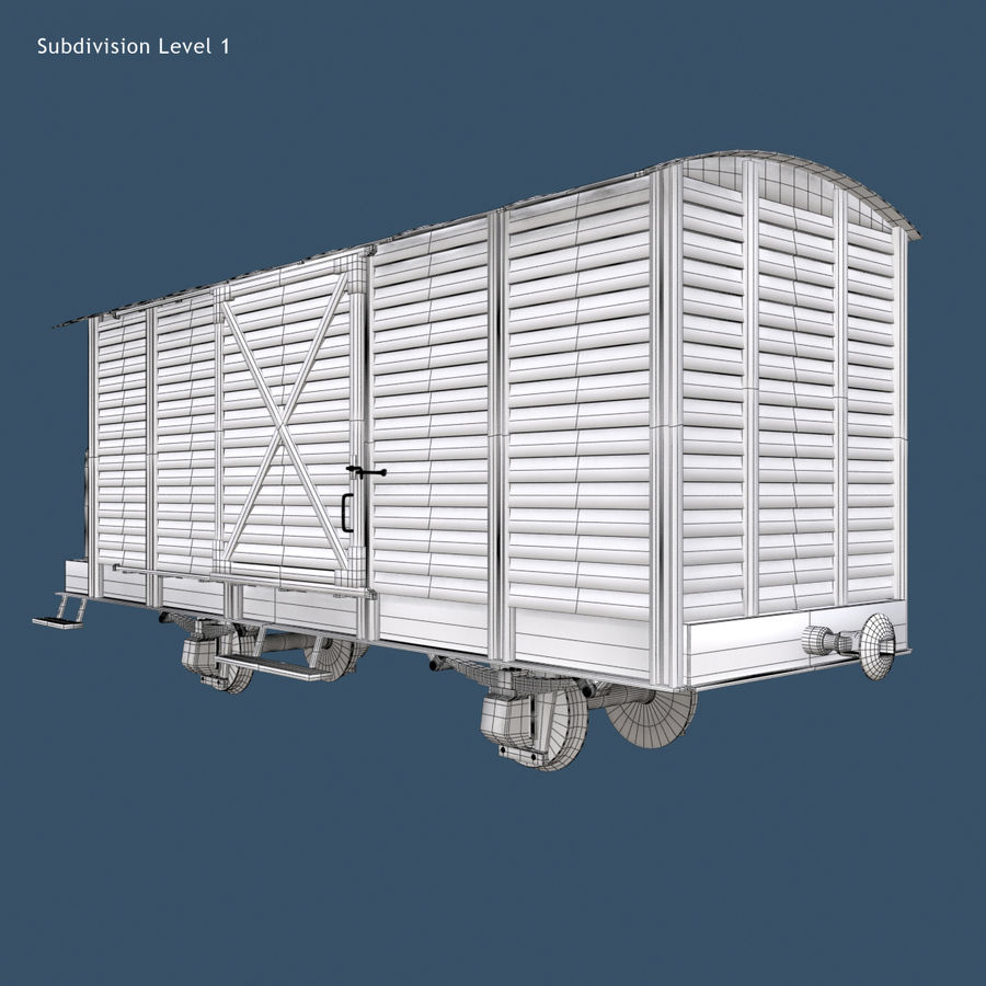 Güterwagen royalty-free 3d model - Preview no. 5