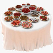 Strawberry Luxurious Table Set 3d model