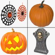 Halloween Dekoration Sammlung 3d model