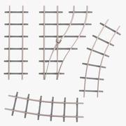 Железнодорожная линия 3d model