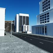 Rue de la ville 3d model