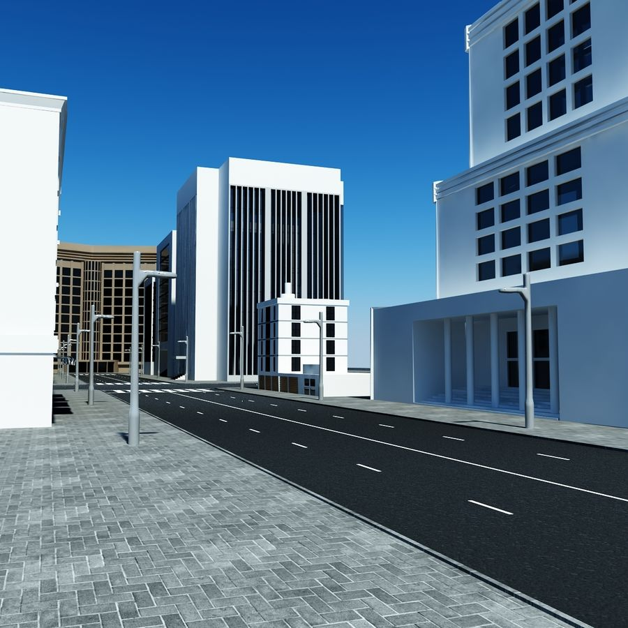 Calle de la ciudad royalty-free modelo 3d - Preview no. 1