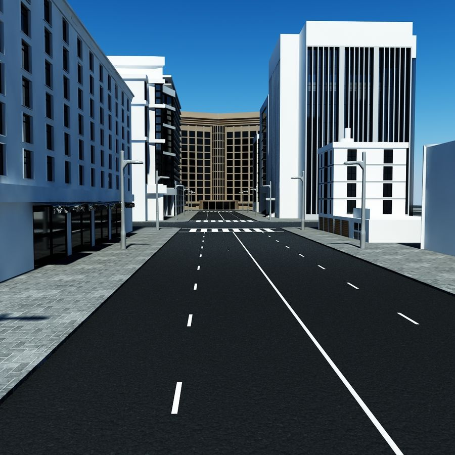 Calle de la ciudad royalty-free modelo 3d - Preview no. 5
