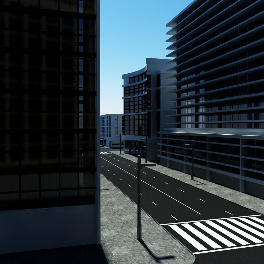 Calle de la ciudad royalty-free modelo 3d - Preview no. 2