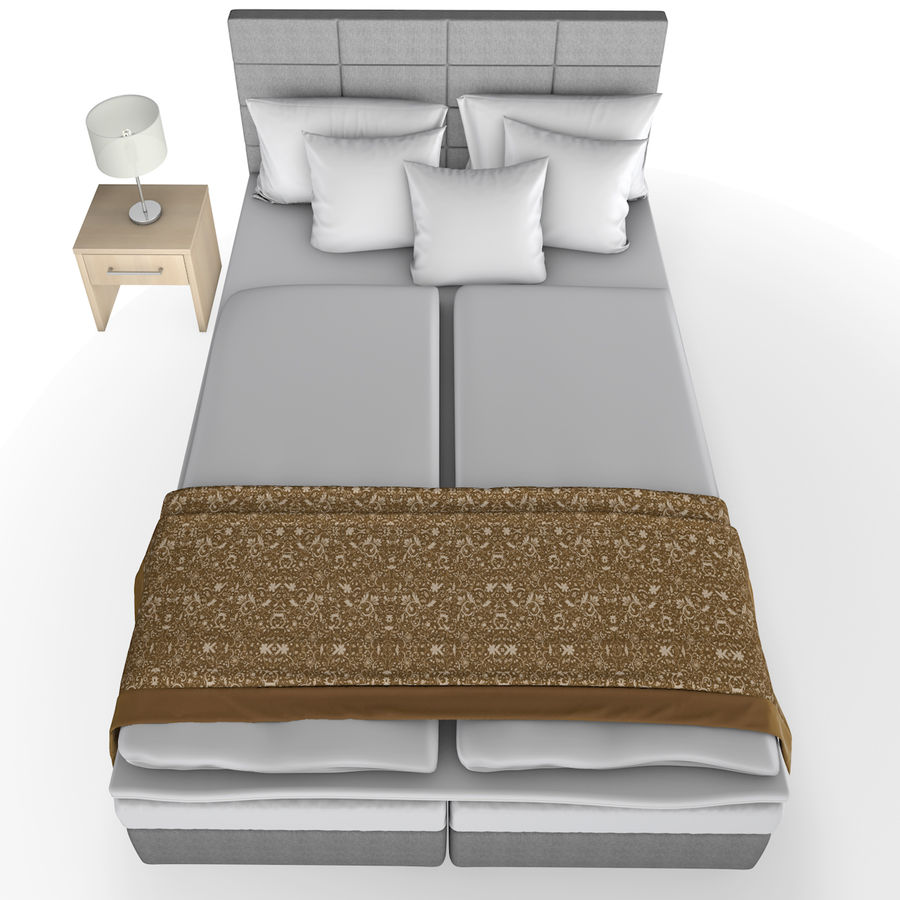 Bedroom furniture royalty-free 3d model - Preview no. 3
