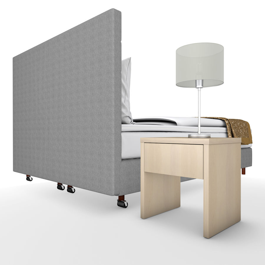 Bedroom furniture royalty-free 3d model - Preview no. 2