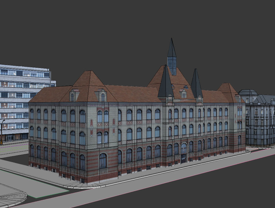 stad royalty-free 3d model - Preview no. 19