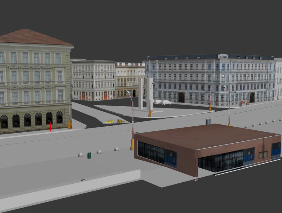 stad royalty-free 3d model - Preview no. 6