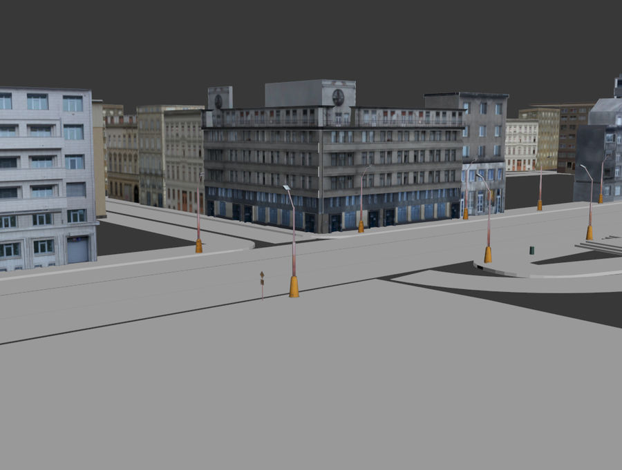 stad royalty-free 3d model - Preview no. 4