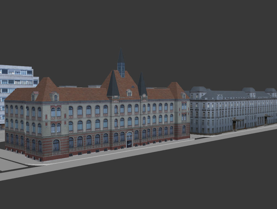 stad royalty-free 3d model - Preview no. 2
