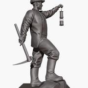 Pracownik kopalni, Collier, Pitman, Rzeźba 3d model