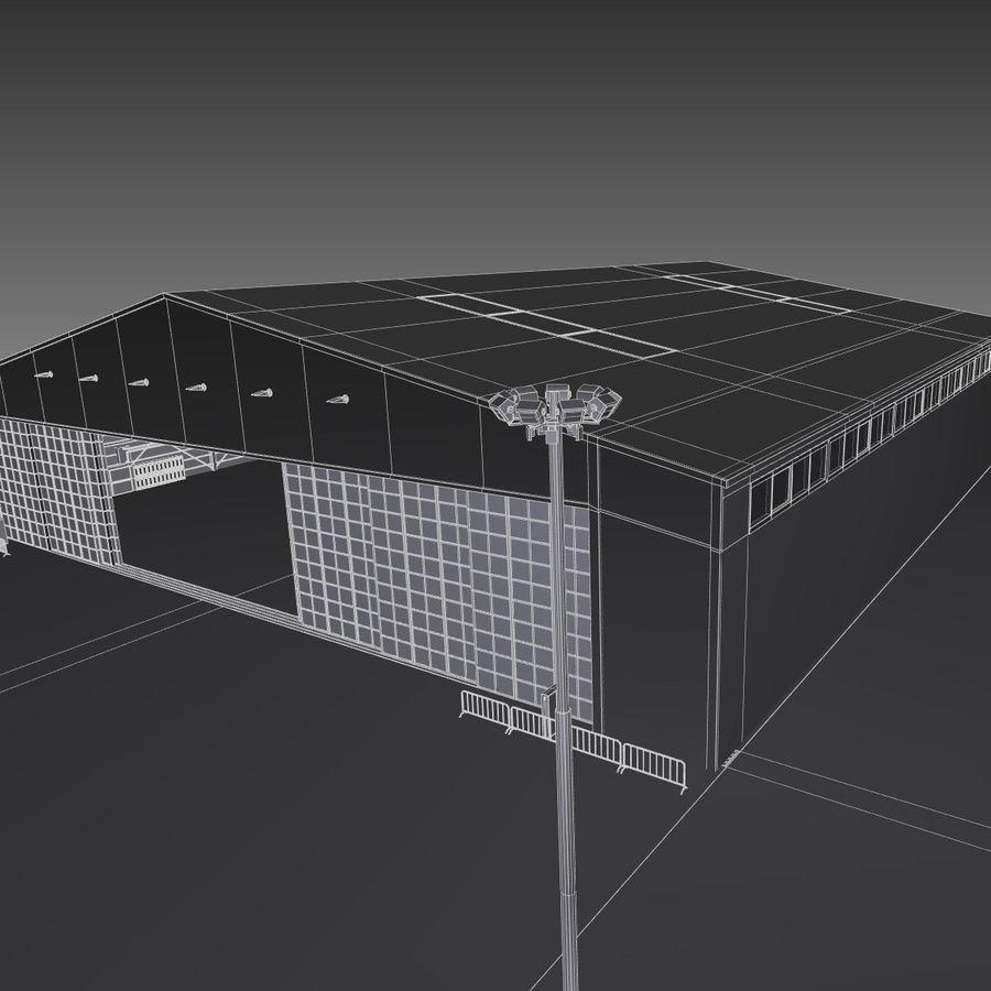 Ангар для самолета royalty-free 3d model - Preview no. 20