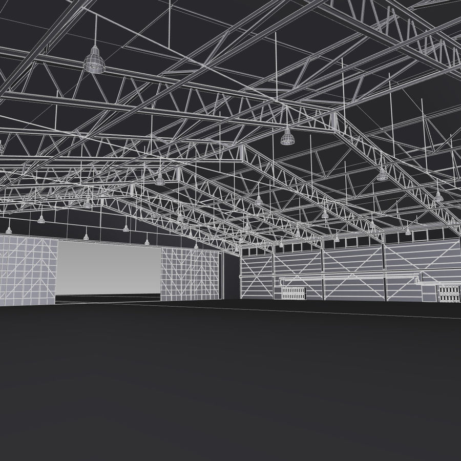 Airplane Hangar royalty-free 3d model - Preview no. 15