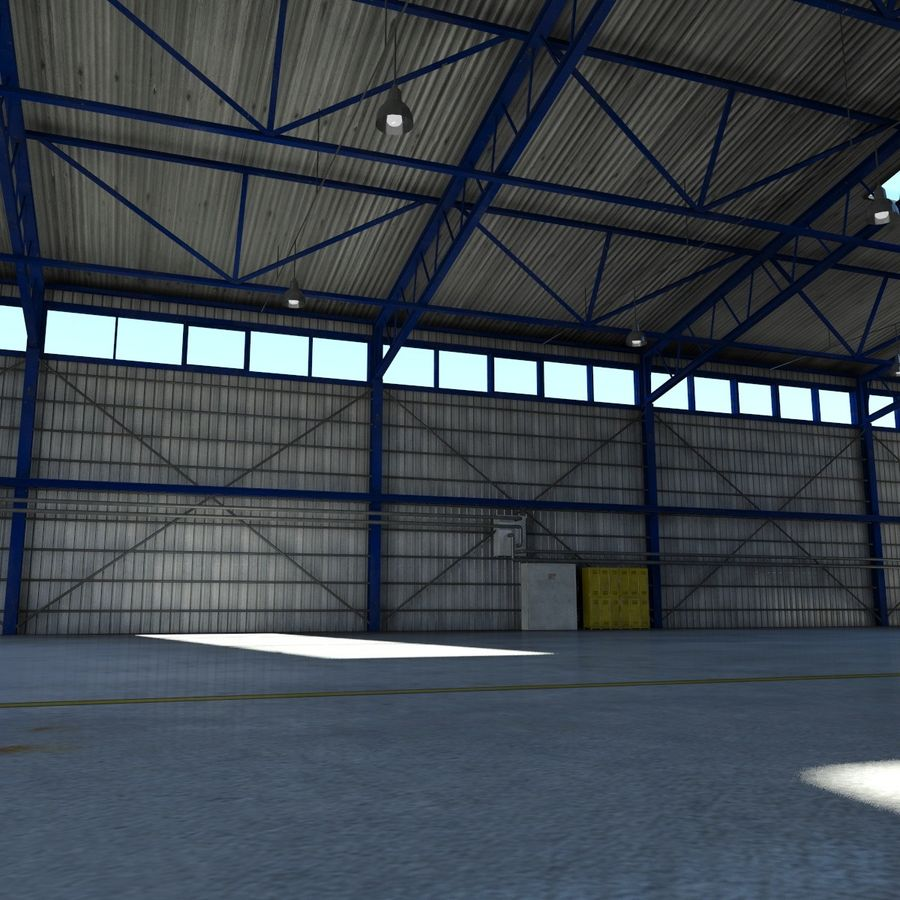 Airplane Hangar royalty-free 3d model - Preview no. 13