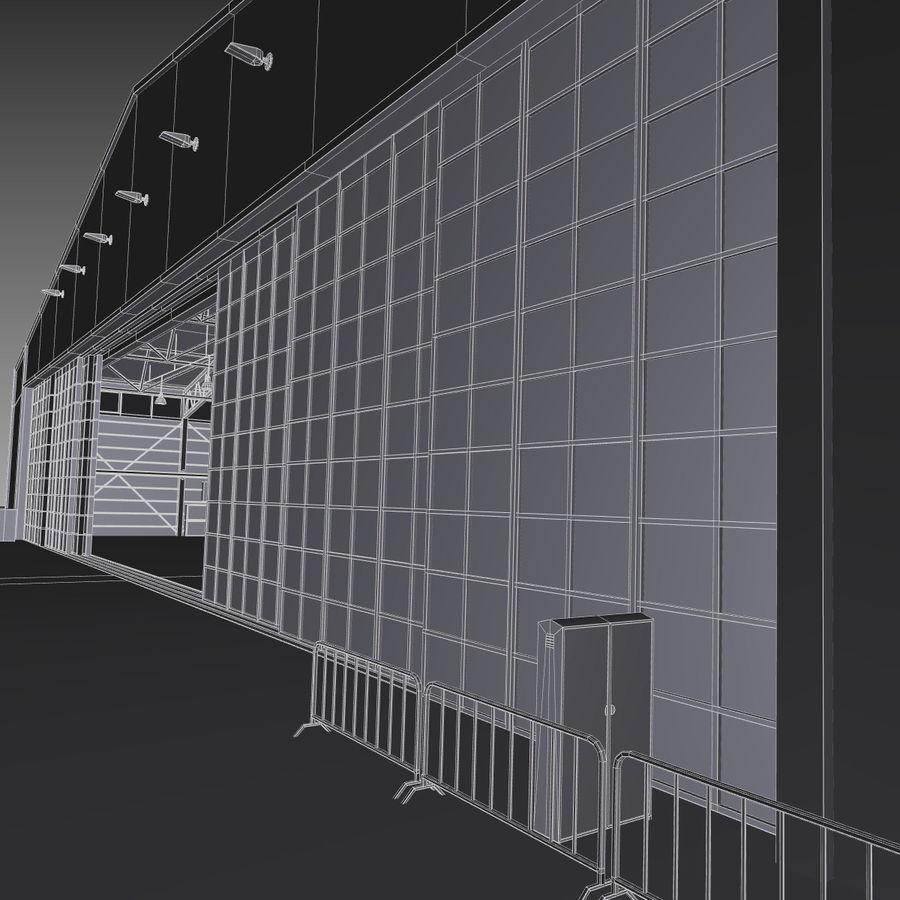 Ангар для самолета royalty-free 3d model - Preview no. 19