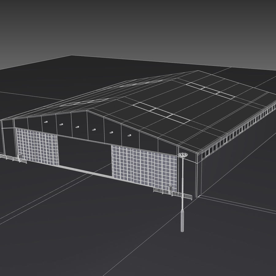 Airplane Hangar royalty-free 3d model - Preview no. 21