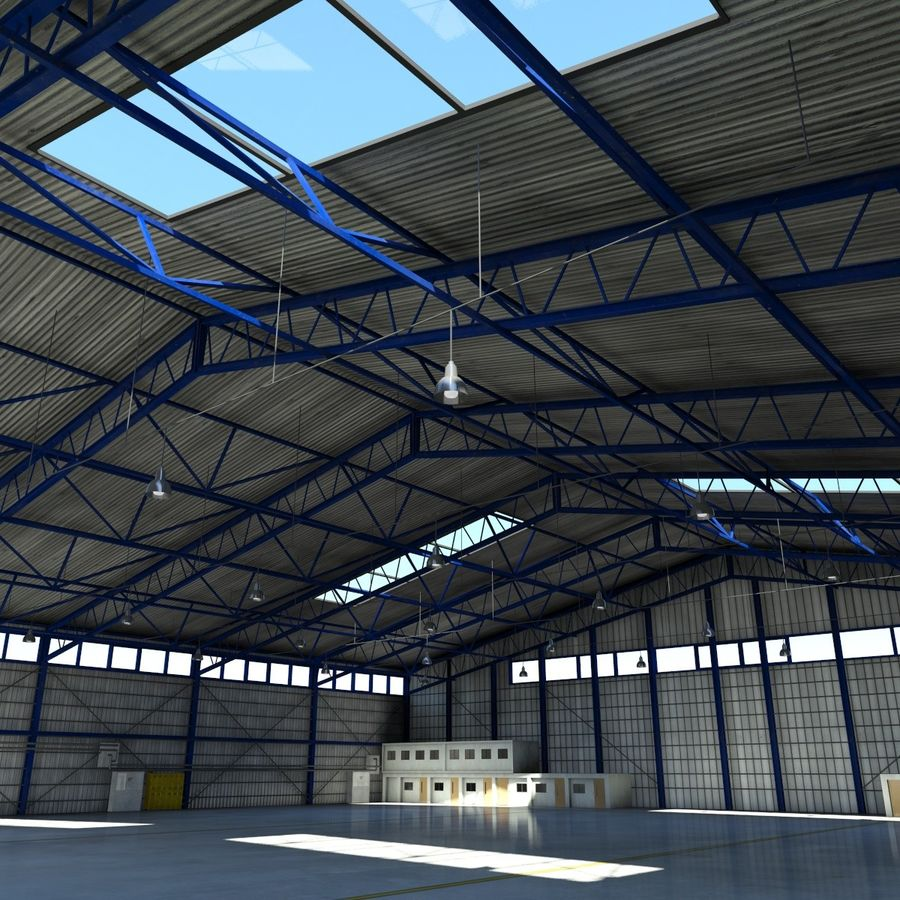 Airplane Hangar royalty-free 3d model - Preview no. 11