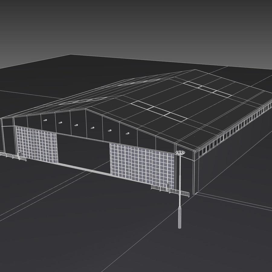 Ангар для самолета royalty-free 3d model - Preview no. 21