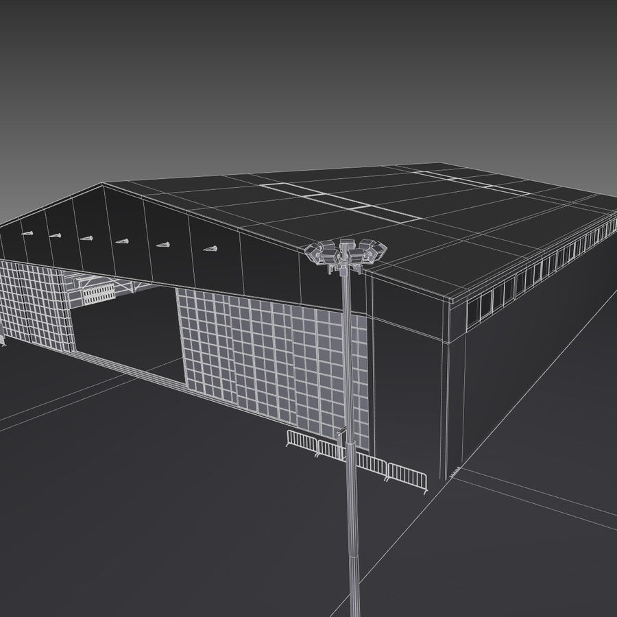 Airplane Hangar royalty-free 3d model - Preview no. 20