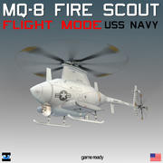 MQ-8 Fire Scout with Translucent Rotor Disk 3d model
