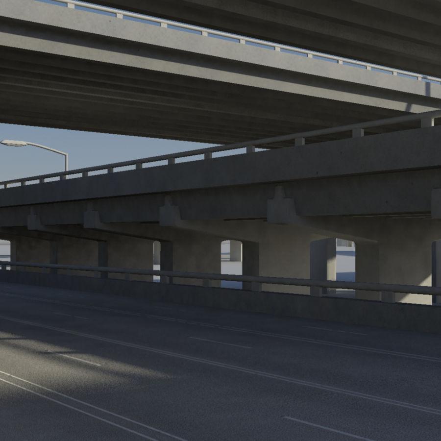 Freeway royalty-free 3d model - Preview no. 5