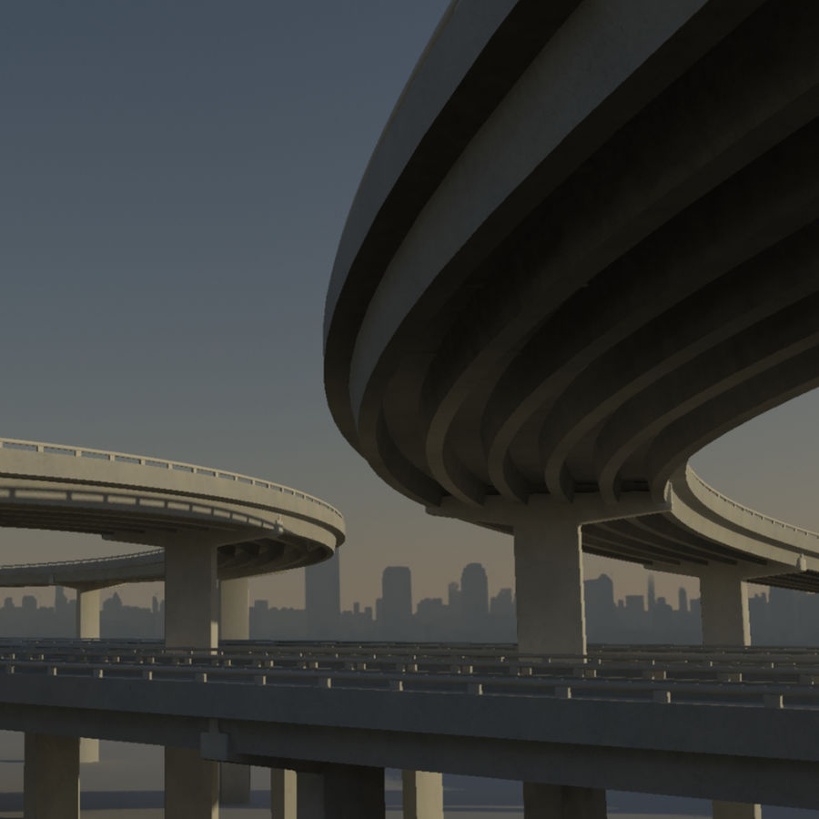 Freeway royalty-free 3d model - Preview no. 1