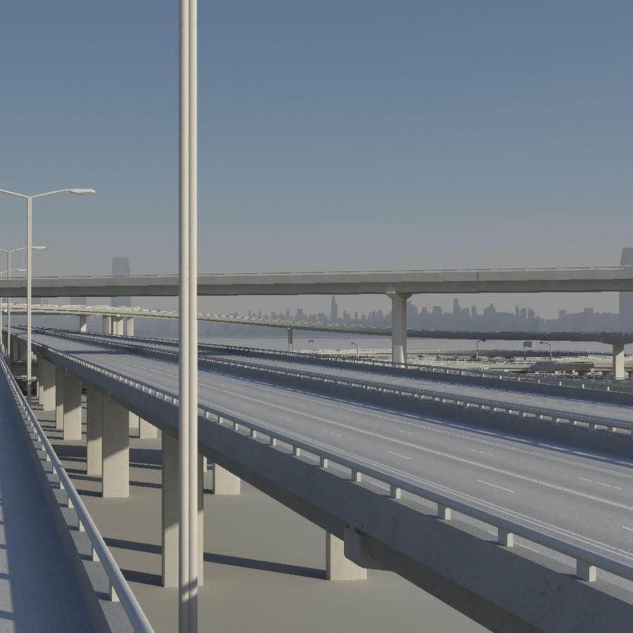Freeway royalty-free 3d model - Preview no. 2